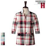[해리슨]HARRISON - 체크7부 린넨자켓 PK1043 재킷