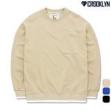[크루클린] CROOKLYN 포켓 오버핏 맨투맨 MRL451 크루넥 스��셔츠