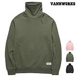 밴웍스 하이넥 기모 맨투맨(VNAFTS401)_3colors 터틀넥 목폴라 크루넥 스��셔츠