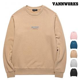 [특가할인]밴웍스 크랙 프린팅 기모 맨투맨(VNAFTS404)_5colors 크루넥 스��셔츠