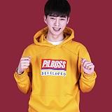 [PilBOSS]필보스 DEVLOPED LOGO 로고 기모 후드 노랑 Yellow