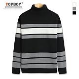 탑보이 - 삼선 단가라 폴라니트 (TR703) 스웨터