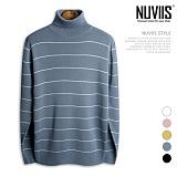 [뉴비스] NUVIIS - 파스텔 단가라 터틀넥 니트 (TR118KN) 스웨터