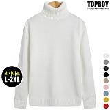 [탑보이] 심플 무지 폴라 니트 (TR706) 스웨터 목폴라