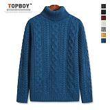 [탑보이] 알투 꽈배기 폴라니트 (TR705) 스웨터 목폴라