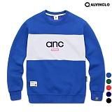 [앨빈클로]ALVINCLO MAR-825CANC  배색 맨투맨 크루넥 스��셔츠