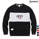 [앨빈클로]ALVINCLO MAR-825BANC  배색 맨투맨 크루넥 스��셔츠