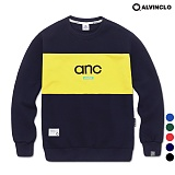 [앨빈클로]ALVINCLO MAR-825NANC  배색 맨투맨 크루넥 스��셔츠
