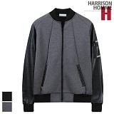 [해리슨]HARRISON - 실버 테이프 가죽 배색 블루종 RT1043