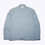 프랭크도미닉 - KNOT RINEN SHIRT(BLUE) 셔츠 캐주얼 린넨혼방