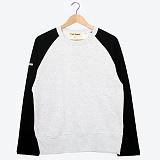 프랭크도미닉 - RAGLAN HIDDEN POKET(WHITE GRAY+ BLACK) 나그랑티셔츠