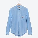 프랭크도미닉 - LINE OF JAZZ SHIRTS(DENIM BLUE) 셔츠 린넨혼방