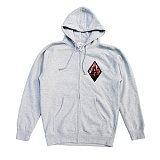 [블랙스케일][QUICK STRIKE] BLACK SCALE BLVCK REBELS ZIP IP HOODIE (GREY) 후디 후드