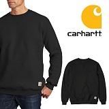 [칼하트]CARHARTT - K124 미드웨이트 스웨셔츠 맨투맨 블랙 크루넥 정품 국내배송