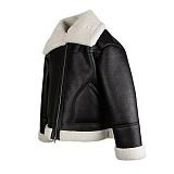 [로맨틱크라운]ROMANTIC CROWN - WIDE FIT MOUTON JACKET_BLACK 와이드 핏 무톤 재킷 자켓