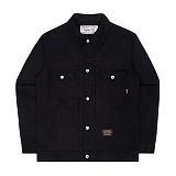 [언더에어] UNDERAIR 7s Cotton Trucker - Black 코튼 트러커자켓 재킷