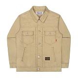 [언더에어] UNDERAIR 7s Cotton Trucker -  Beige 코튼 트러커자켓 재킷
