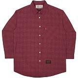 [언더에어]UNDER AIR Micro Flux - Burgundy 체크 셔츠 남방