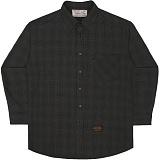 [언더에어]UNDER AIR Micro Flux - Black 체크 셔츠 남방
