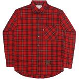 [언더에어]UNDER AIR Endless Sunshine - Red 체크 셔츠 남방