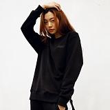 [매스노운]MASSNOUN  소셔데매스 맨투맨 티셔츠 MFSCR005-BK