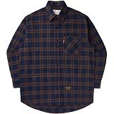 [언더에어]UNDER AIR Heimish - Brown 체크 남방 셔츠