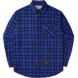 [언더에어]UNDER AIR Over The Horizen - Blue 체크 남방 셔츠