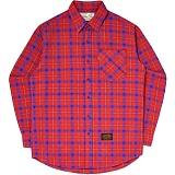 [언더에어]UNDER AIR Mellisa - Red 체크 남방 셔츠