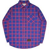 [언더에어]UNDER AIR Mellisa - Orange Blue 체크 남방 셔츠