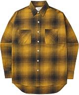 [언더에어]UNDER AIR Magnetic Field - Mustard 체크 남방 셔츠