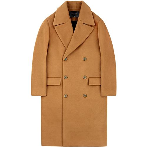 [언더에어]UNDER AIR Oversize Double Coat - Camel 오버사이즈 더블 코트