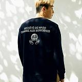 [매스노운]MASSNOUN  소셔데매스 맨투맨 티셔츠 MFSCR005-NV