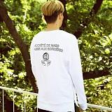 [매스노운]MASSNOUN  소셔데매스 맨투맨 티셔츠 MFSCR005-WT