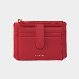 살랑 - Dijon 301S Flap Card Wallet cherry red 미니카드지갑