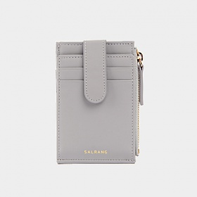 살랑 - Dijon 201S Flap mini Card Wallet light grey 미니카드지갑