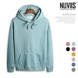 [뉴비스] NUVIIS - 남녀공용 라운드 삼각 기모 후드티셔츠 (MD028HD)