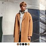 [11월30일예약발송][어커버]ACOVER - HEAVY WOOL BLEND SINGLE COAT 코트 싱글코트 오버코트 오버핏 울코트