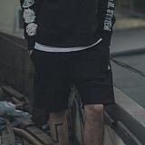 [니드네스]NEEDNEES - fatigue layererd boxer pants blk 레이어드 복서 반바지 하프 팬츠