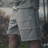 [니드네스]NEEDNEES - fatigue layererd boxer pants mlg 레이어드 복서 반바지 하프 팬츠