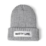 [위티나트]WxA - WITTY LIFE BEANIE (gray)_비니_모자