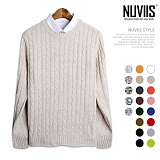 [뉴비스] NUVIIS - 남녀공용 꽈베기 라운드 니트 (DS067KN) 스웨터