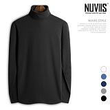 [뉴비스] NUVIIS - 심플 기모 긴목 폴라티셔츠 (CC082TS) 목폴라