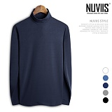 [뉴비스] NUVIIS - 심플 기모 반목 폴라티셔츠 (CC081TS) 목폴라