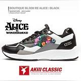 [AKIII CLASSIC]디즈니X아키 콜라보 한정판-부띠끄 BL308 앨리스 블랙