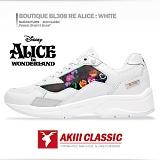 [AKIII CLASSIC]디즈니X아키 콜라보 한정판-부띠끄 BL308 앨리스 화이트