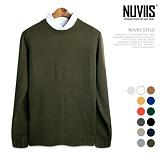 [뉴비스] NUVIIS - 솔리드 무지 라운드 니트 (DS071KN)