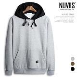 [뉴비스] NUVIIS - 맨투맨 레이어드 기모후드티셔츠 (NB137HD)
