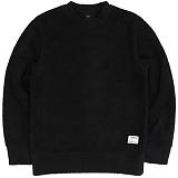 [언더에어] UNDER AIR Fleece SweatShirt - Black 플리스 스��셔츠 크루넥 맨투맨