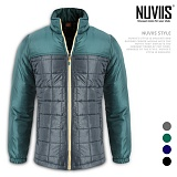 [뉴비스] NUVIIS - 사각 배색 경량패딩 (MR002PD)