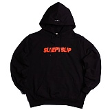 [슬리피슬립]SLEEPYSLIP - [unisex]IDENTITY BLACK/ORANGE HOODIE 후드 후드티 후디